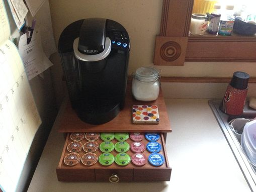 Custom Made Coffee Maker Stand With Keurig K-Cup Drawer
