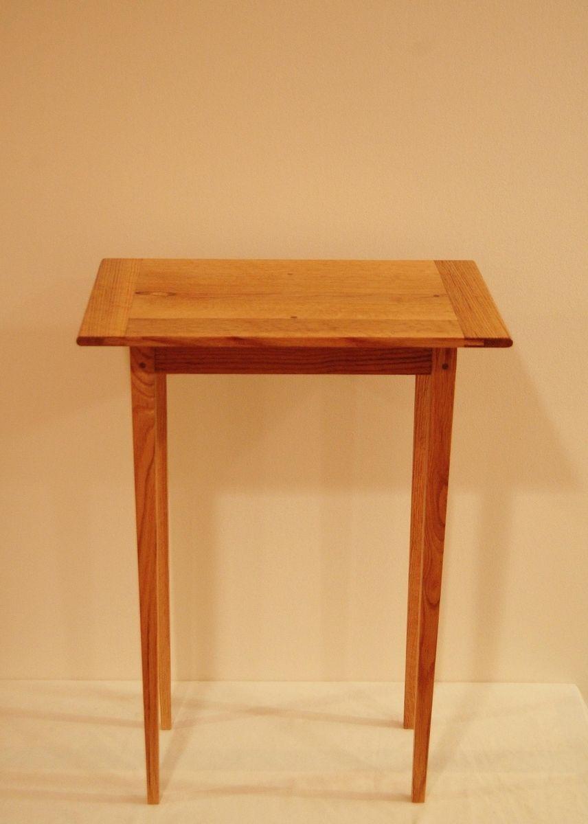 Oak Side Table: Buy A Hand Crafted Elegant Handmade Traditional Oak End