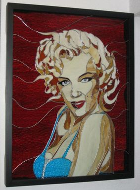 Custom Made Marilyn Portrait Stained Glass