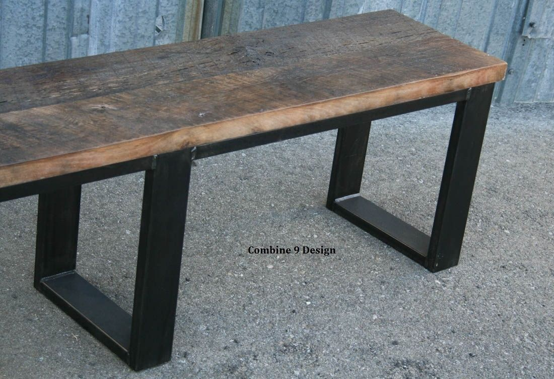Buy a handmade vintage industrial bench seat reclaimed