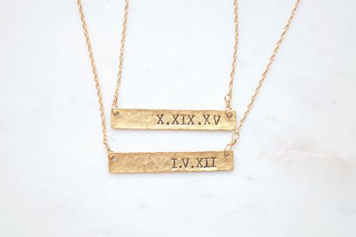 Custom Made Roman Numeral Date Necklace