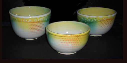 Custom Made Hand Thrown Stoneware Bowls In A Variety Of Glazes