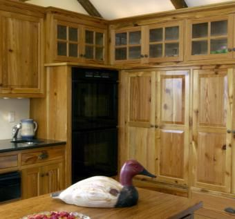 Custom Made Heart Pine Kitchen