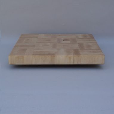 Custom Made Square Maple End Grain Up Cutting Board