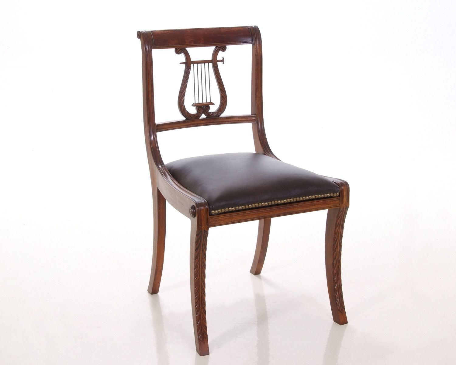 Hand made lyre back chair by kauffman fine furniture What are chairs made of