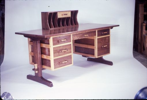 Custom Made Walnut And Cherry Desk