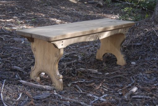 Custom Made Bench - Pine - Hand Carved