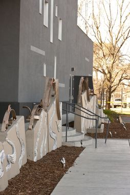 Custom Made Modern Bronze Outdoor Public Installation