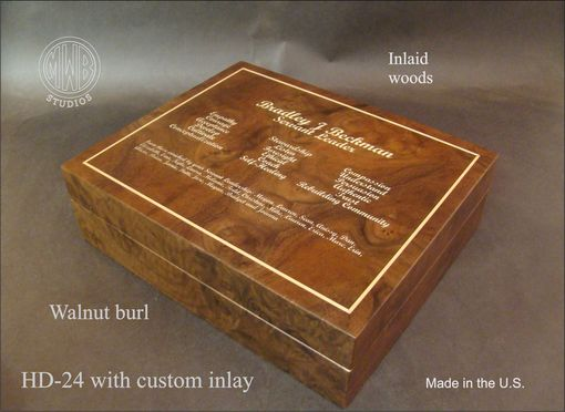 Custom Made Handcrafted Custom Inlaid Humidor Hd24