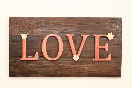 "Custom Made 30"" Wood ""Love"" Panel"