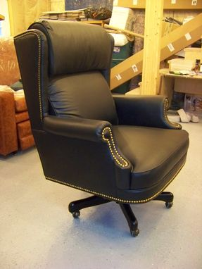 custom made office chairs. Custom Built -- Leather Desk Chair For An Execitive Office Custom Made Office Chairs A