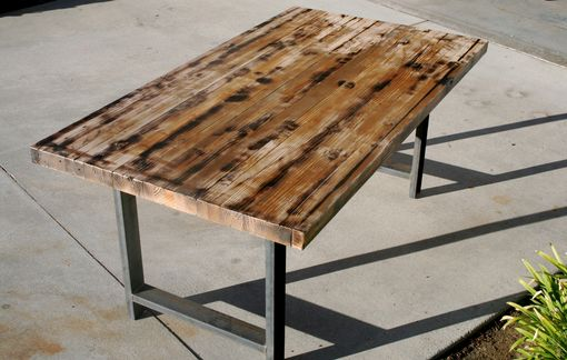 Rustic Recycled Butcher Block Dinning Table