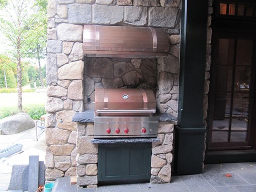 Custom Made Copper Hood And Grill Top