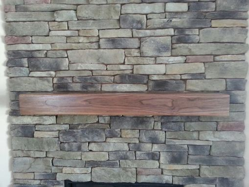 Custom Made Walnut Mantel