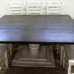 Square Farmhouse Table With Tuscany Pedestal By Jane Longden