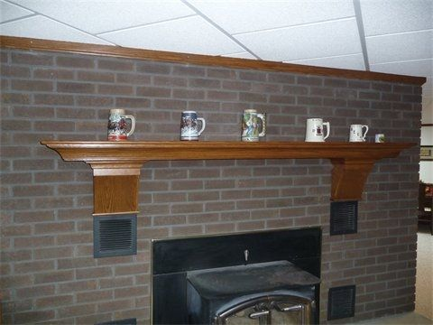 Custom Made Wood Mantel