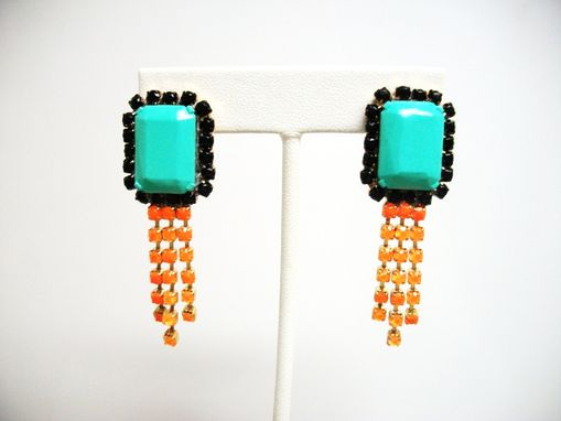 "Custom Made Neon Blue Earrings ""Zara''"