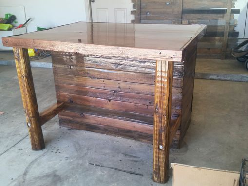 Custom Made Rustic Kitchen Island Or Outdoor Bar