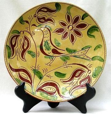 Custom Made Sgraffito Ceramic Plate