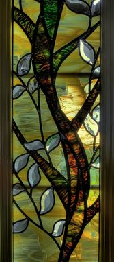 Custom Made Stained Glass Sidelights And Transom
