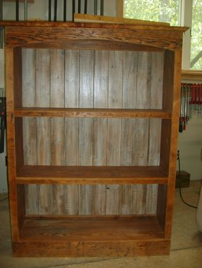 Custom Made Reclaimed Wood Bookcase