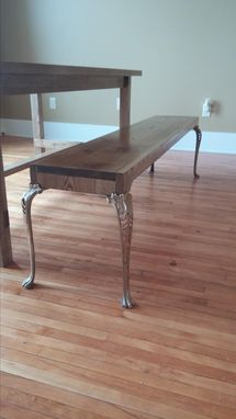 Custom Made Farmhouse Table And Bench