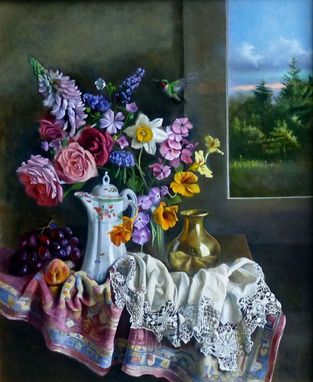 Custom Made Painting:  Grandma's Chocolate Pot By Roy Mandell