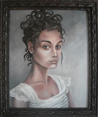 Custom Made Alisz (Sweet And Noble Truth)-Acrylic On Canvas Portrait, Framed