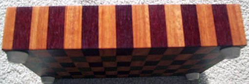 Custom Made Mahogany, Walnut, Purple Heart End Grain Board