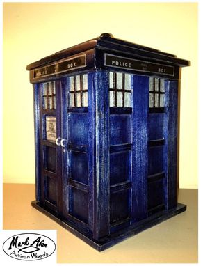 Custom Made The Tardis Ring Box For Mens Size 11 Band