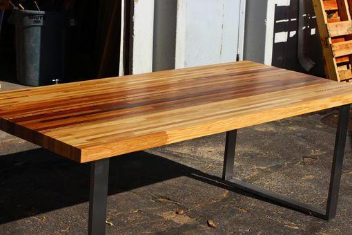 Custom Made Mixed Malaysian And Ash Butcher Block Desk