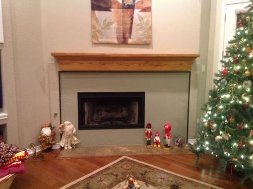 Custom Made Rustic Red Oak Mantel- Long