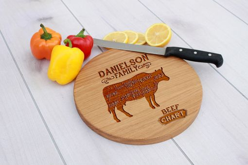 Custom Made Personalized Cutting Board, Cutting Board, Wedding Gift – Cbr-Wo-Danielson Family Beef Chart