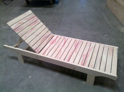 Custom Made Chaise Lounge - Reclaimed Pine