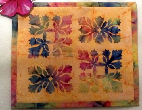 Custom Made Art Quilt - Hawaiian Floral