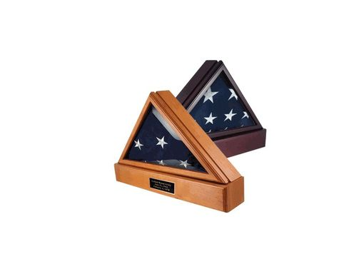 Custom Made Officers Flag Display Case And Pedestal For 5ft X 9.5ft Flag