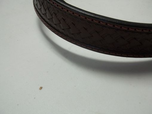 Custom Made Rum Raisin Brown Cutaway Belt Size 45