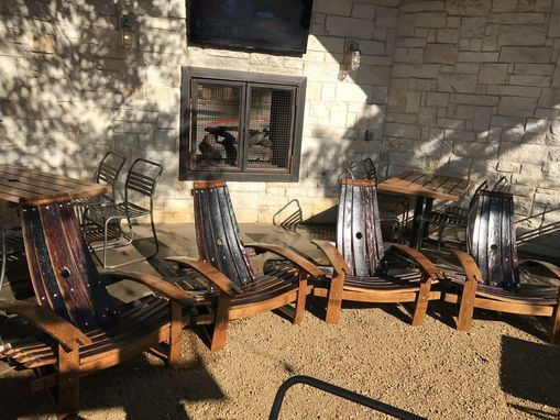 Custom Made Wine Barrel Stave Adirondack Chairs