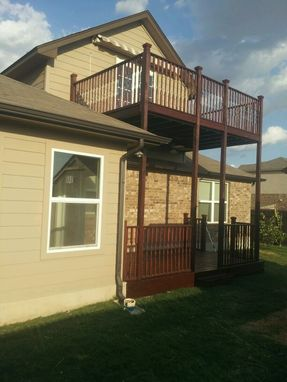 Custom Made Two Story Deck Addition