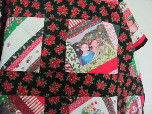 Custom Made Christmas Quilt With Photos