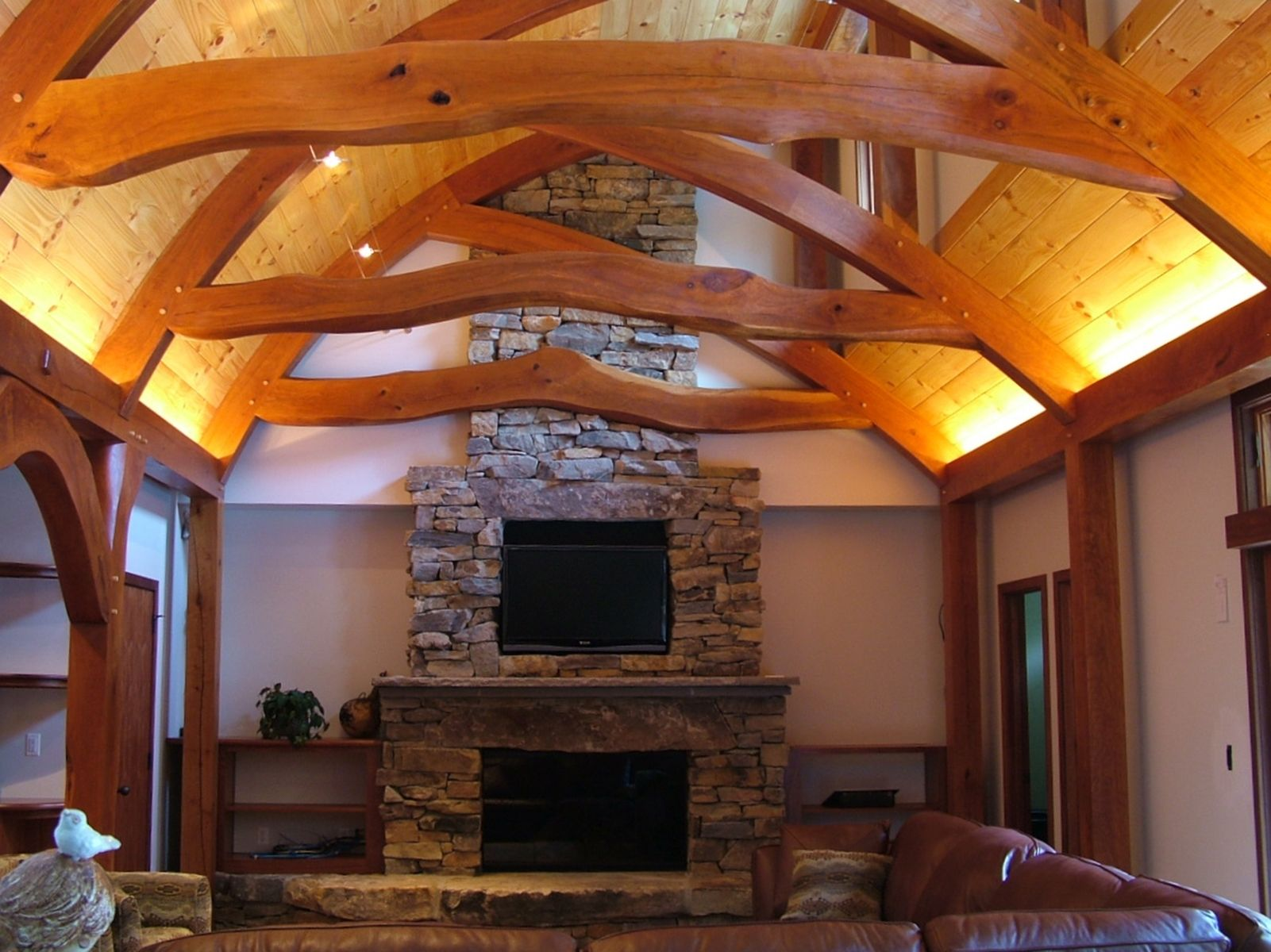 Handmade lafrack timber frame by vicco von voss furniture for Timber frame home interiors