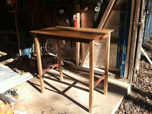 Custom Made Standing Desk, White Oak/Black Walnut