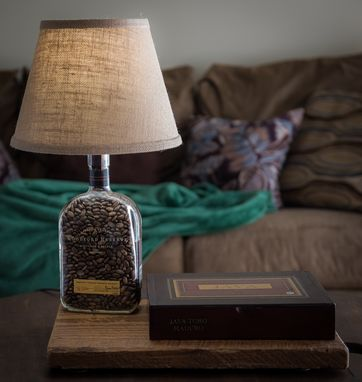 Custom Made Whiskey Bottle Cigar Box Lamp // Woodford Reserve // Unique Gift