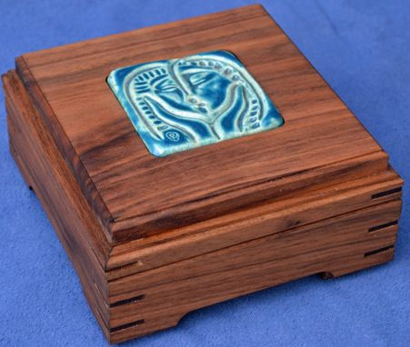 Custom Made Keepsake Box With Tile Supplied By Me