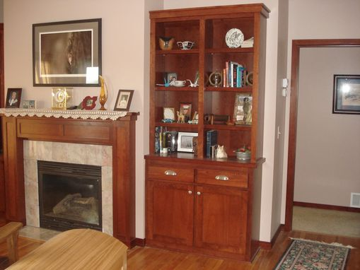 Custom Made Mantle/ Fireplace Surround/Bookcase