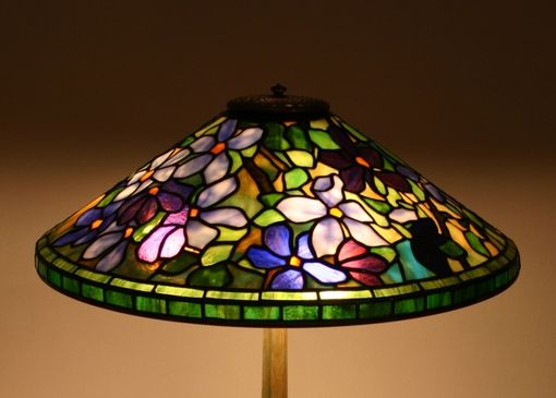 Custom Made Clematis Lampshade With Base