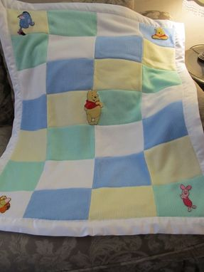 Custom Made Winnie The Pooh Knitted Quilt