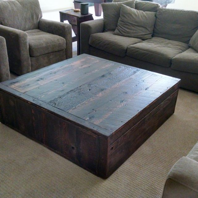 Hand Crafted Square Reclaimed Coffee Table By Tim Sway Perspectives Custommade