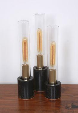 Custom Made Tube Lamps From Recycled Parts And Edison Bulbs