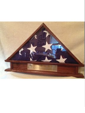 Custom Made Burial Flag Display